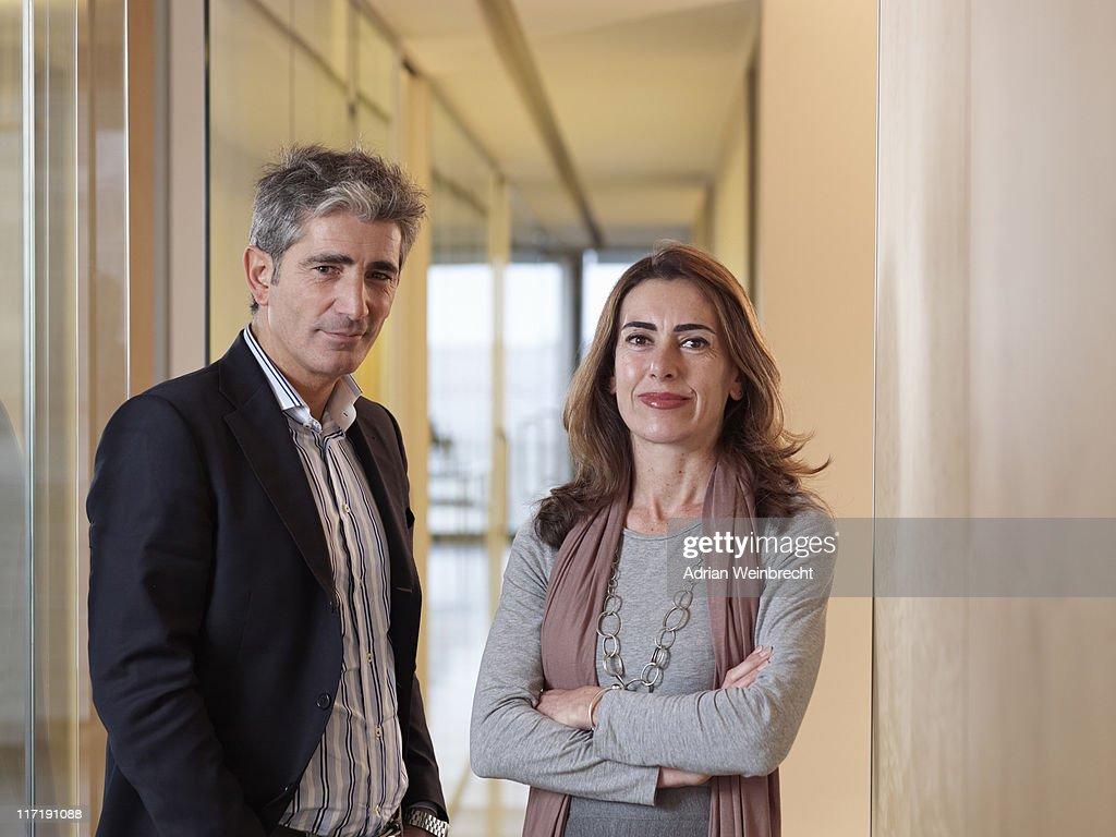 Retrato de dos personas : Foto de stock