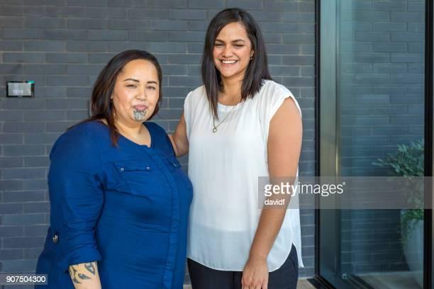 Portrait of Two Maori Women
