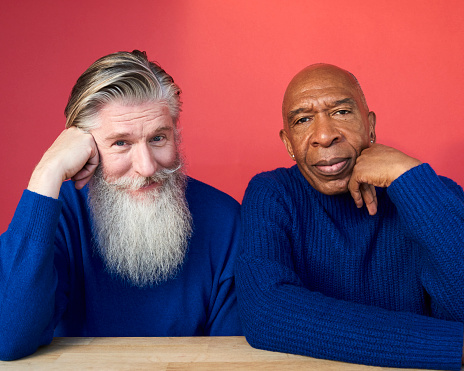 Portrait of two mature men - gettyimageskorea