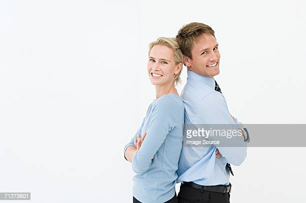 Portrait of two office workers