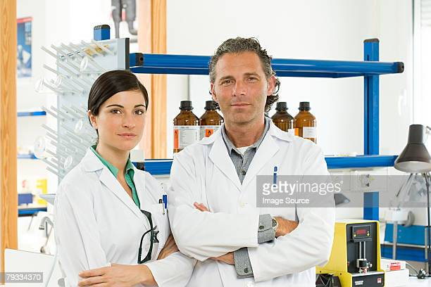 Portrait of two scientists