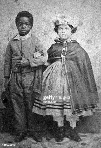 Portrait of two slave children New Orleans Louisiana 1865
