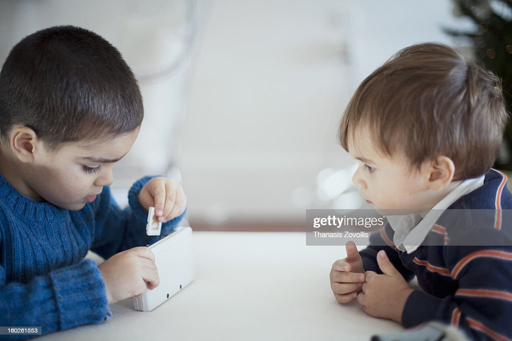 Portrait of two small boys : Stock Photo