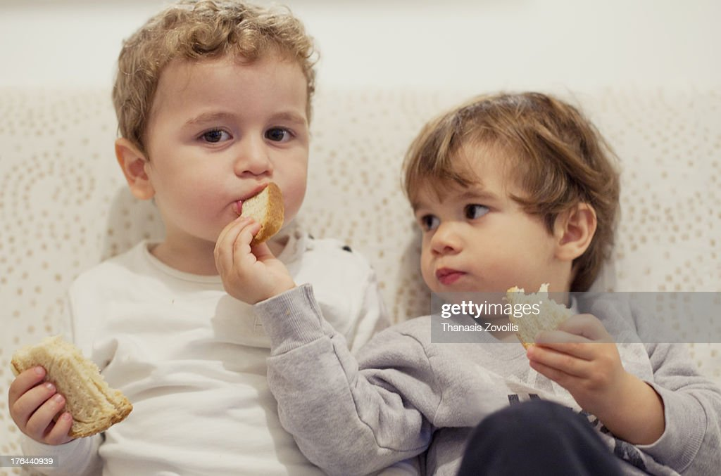 Portrait of two small boys : Stock-Foto