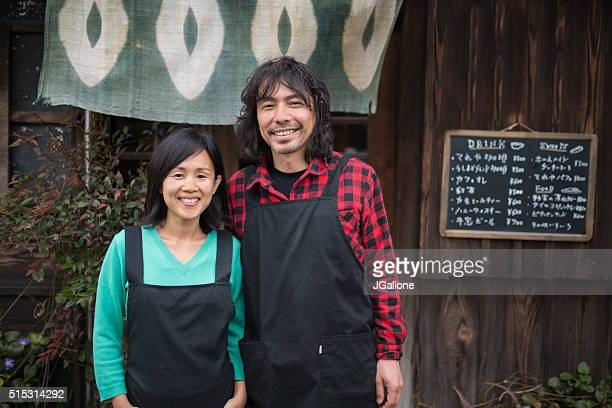 Portrait of two small business owners