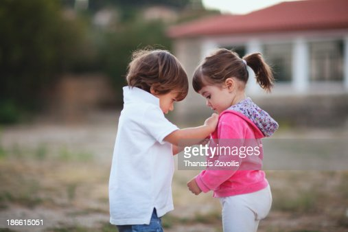 portrait of two small kids stockfoto getty images - Small Kids Images