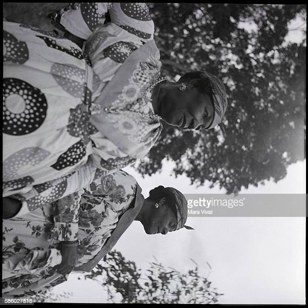 Portrait of Two Women Dressed Up St Lucia