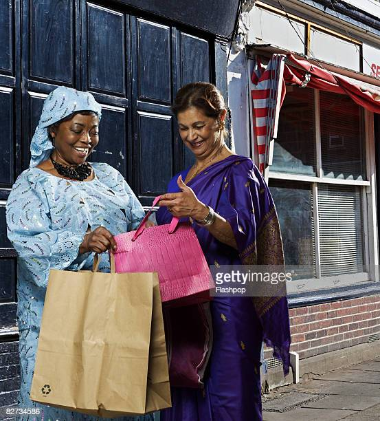 Portrait of two women shopping