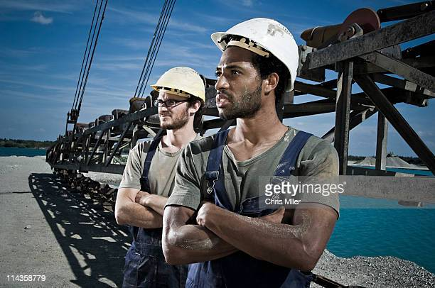 portrait of two workers