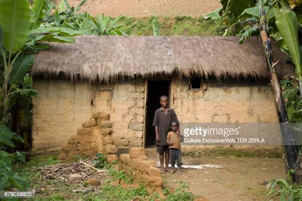 Portrait of two young children, Masango, Cibitoke, Burundi, Africa