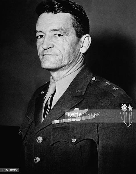 A portrait of U S Major General Claire L Chennault the Allied air commander in China during World War II Ca 1940s