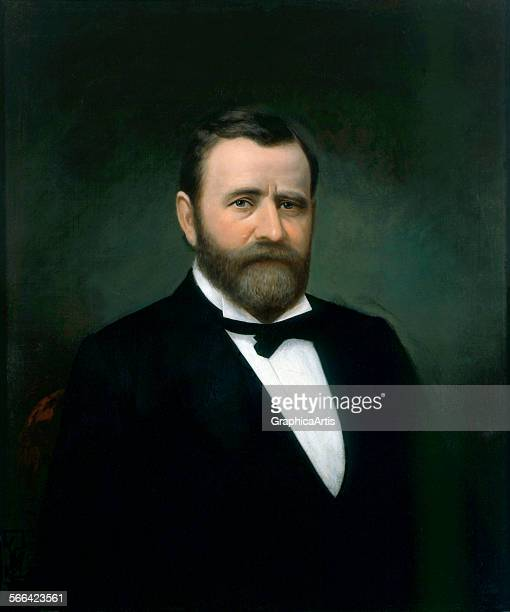 Portrait of Ulysses S Grant by an unknown American artist oil on canvas late 19th century from the White House collection Washington DC