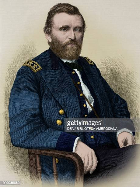 Portrait of Ulysses Simpson Grant , general and President of the United States of America, illustration from the magazine The Illustrated London...