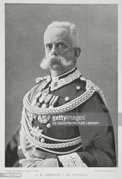 Portrait of Umberto I of Savoy King of Italy photo by C Brogi