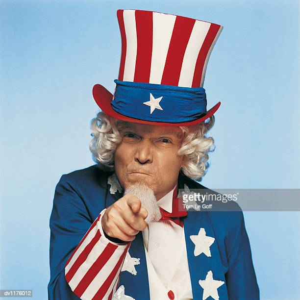 Portrait of Uncle Sam Pointing His Finger Angrily