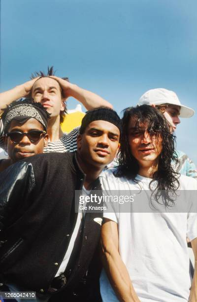 Portrait of Urban Dance Squad, Rudeboy Remington , Tres Manos, Silly Sil , Magic Stick , DJ DNA , Neurorock Festival, Nieuwerkerken, Belgium, 19...