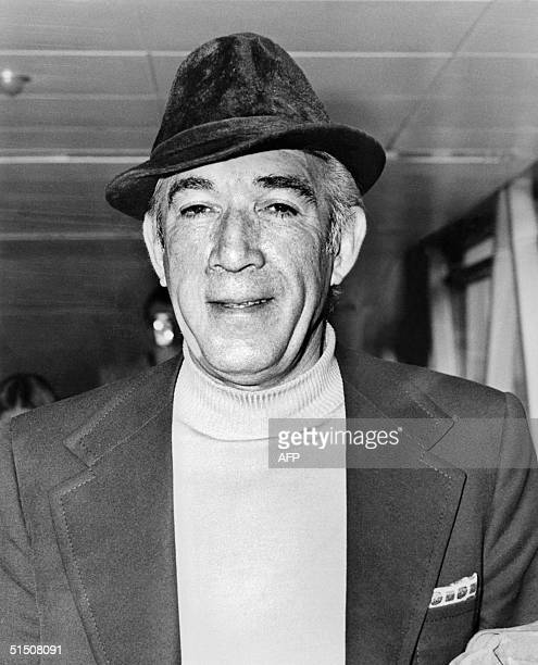 Portrait of US actor Anthony Quinn taken in April 1973 in France Born to an Irish father and Mexican mother 21 April 1915 in Chihuahua Mexico Anthony...