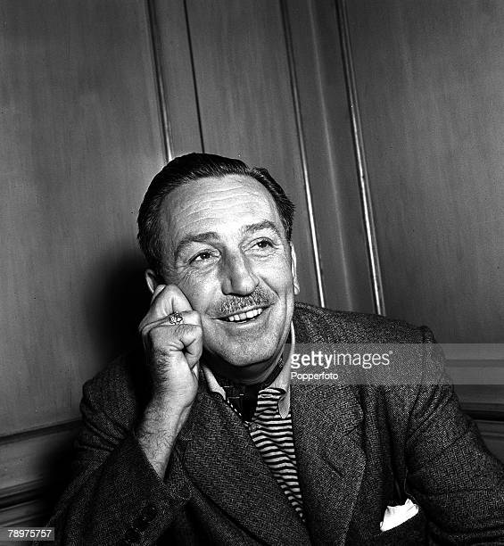 1951 A portrait of US Film producer and cartoonist Walt Disney at Dorchester