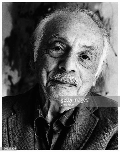 Portrait of US Poet Laureate Stanley Kunitz New York New York 1986