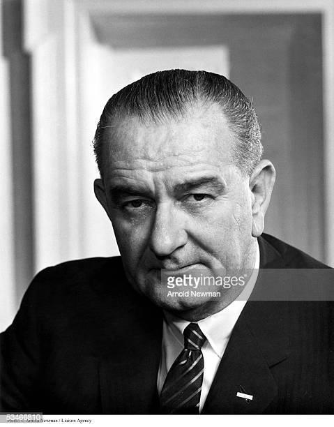 Portrait of US President Lyndon B Johnson at the White House December 19 1963 in Washington DC