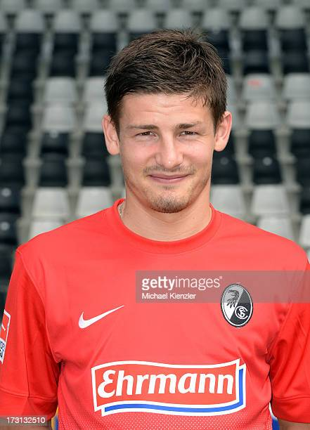 Portrait of Vaclav Pilar taken during the SC Freiburg Team Presentation at MAGE SOLAR Stadium on July 5 2013 in Freiburg Germany