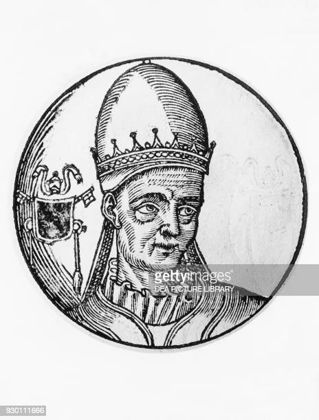 Portrait of Valentine , 100th Pope of the Catholic Church in 827, engraving.