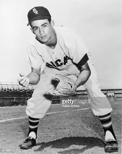 Portrait of Venezuelanborn baseball player Luis Aparicio poses in the uniform of the Chicago White Sox mid 1950s