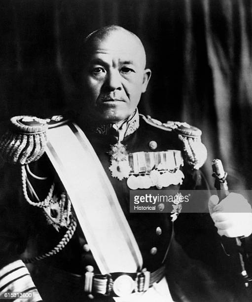 A portrait of Vice Admiral Chuichi Nagumo of the Imperial Japanese Navy who commanded the carrier group that bombed Pearl Harbor