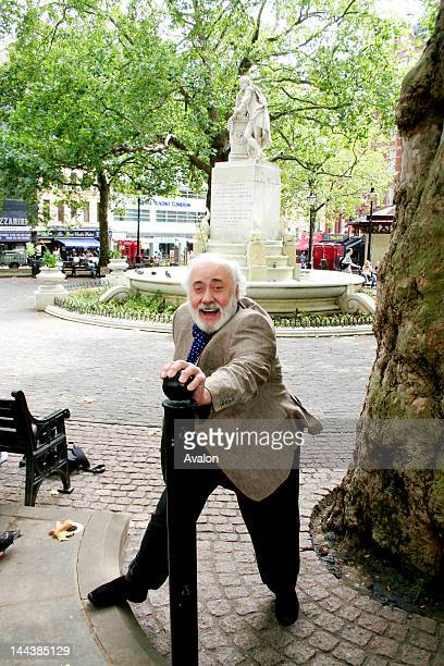 Portrait of Victor Spinetti in Leicester Square London near where his stage career started Victor Spinetti author of Up Front His Strictly...