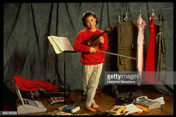 Portrait of violinist Midori