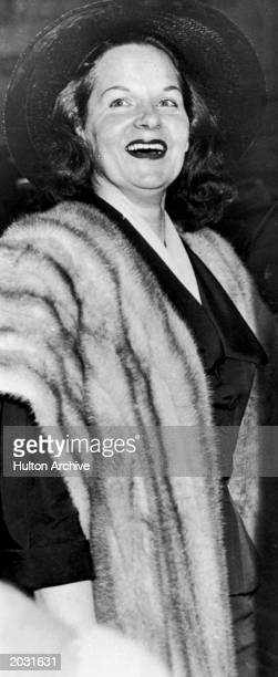 Portrait of Virginia Hill female gangster and girlfriend of mobster Bugsy Siegel circa 1950