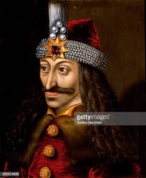 Portrait of Vlad III the Impaler or Dracula who was inspired Bram Stoker's novel Dracula written