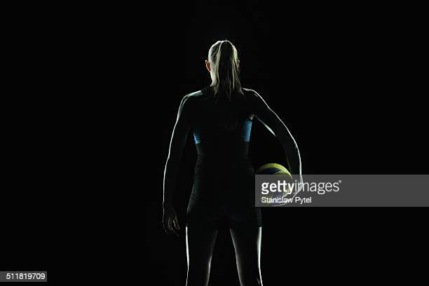 portrait of volleyball player - volleyball sport stock pictures, royalty-free photos & images