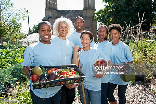 Portrait of Volunteers at Urban Community Garden