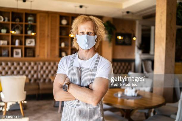 portrait of waiter in a restaurant - opening event stock pictures, royalty-free photos & images