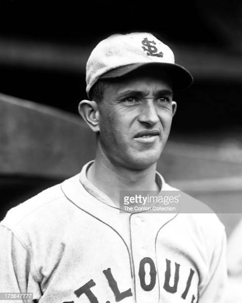 A portrait of Walter C Stewart of the St Louis Browns in 1927