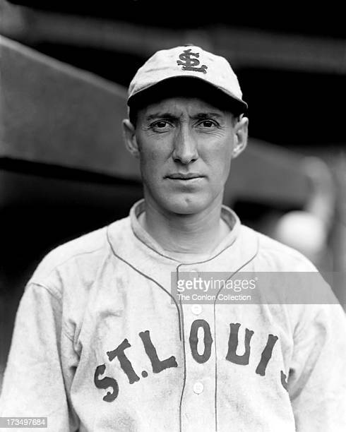 A portrait of Walter Gerber of the St Louis Browns in 1927