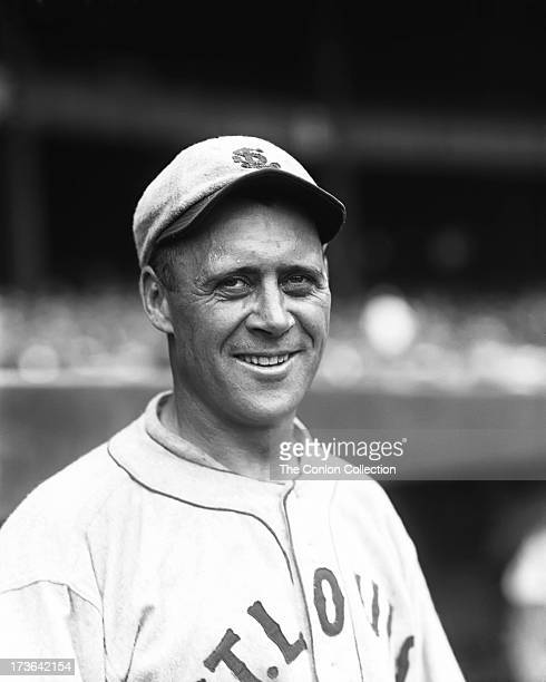 A portrait of Walter H Schang of the St Louis Browns in 1927
