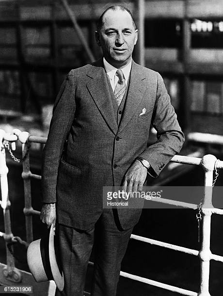 Portrait of Walter Percy Chrysler founder and chairman of the Chrysler Corporatioin He presided over the construction of the Chrysler Building in New...