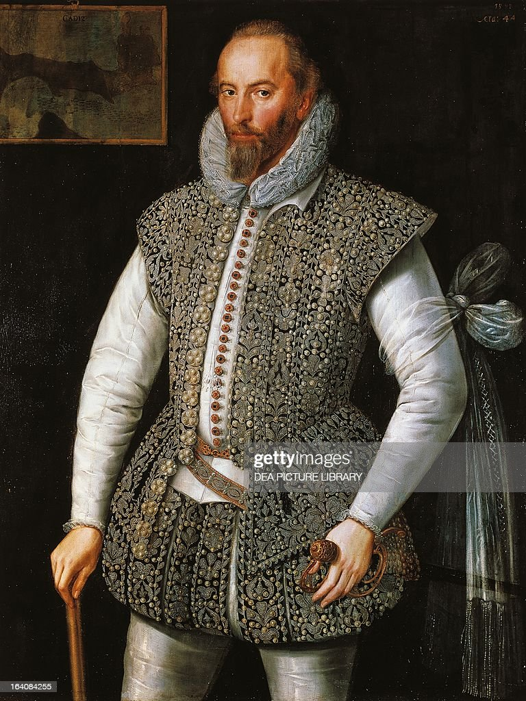 Portrait of Walter Raleigh... : News Photo