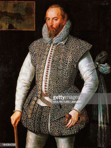 Portrait of Walter Raleigh English explorer adventurer and writer the favourite of Queen Elizabeth I Dublin National Gallery Of Ireland