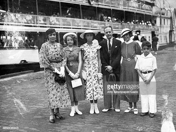 Portrait of Walter White activist and Secretary of NAACP and his family July 11 1936