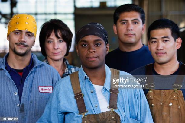 Portrait of warehouse workers