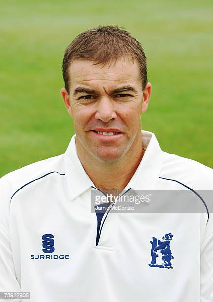 Portrait of Warwickshire County Cricket Captain, Heath Streak during the Warwickshire County Cricket Club photocall on April 16, 2007 at Edgbaston in...