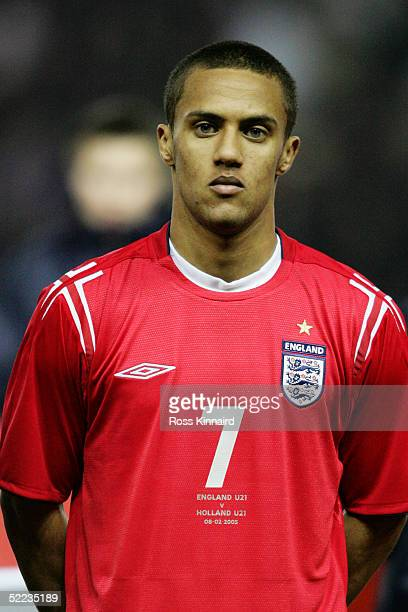 Portrait of Wayne Routledge of England prior to the under 21 international friendly match between England and Holland at Pride Park, on February 8,...