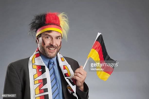Portrait Of Well Dressed German Football Fan