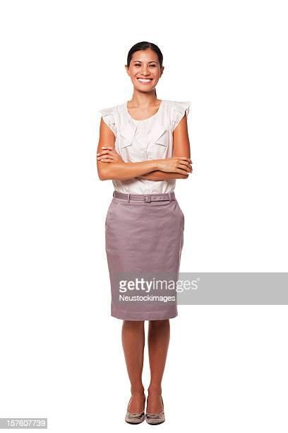 Porträt eines gut gekleidete junge Geschäftsfrau. Isoliert
