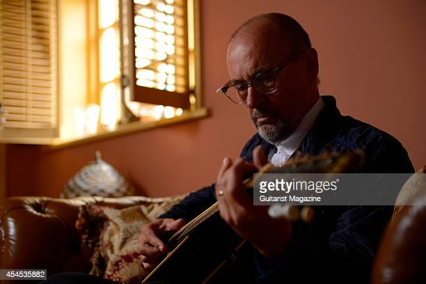 Portrait of Welsh rock musician Andy Fairweather Low photographed at his home in Cardiff Wales on August 30 2013 Low is best known as a member of...