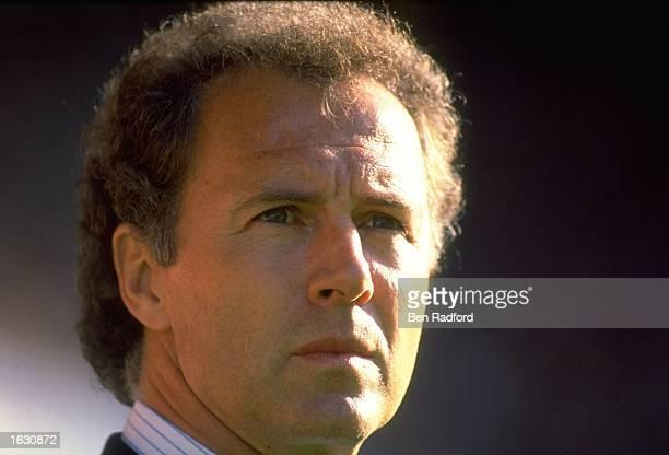 Portrait of West Germany Manager Franz Beckenbauer Mandatory Credit Ben Radford/Allsport