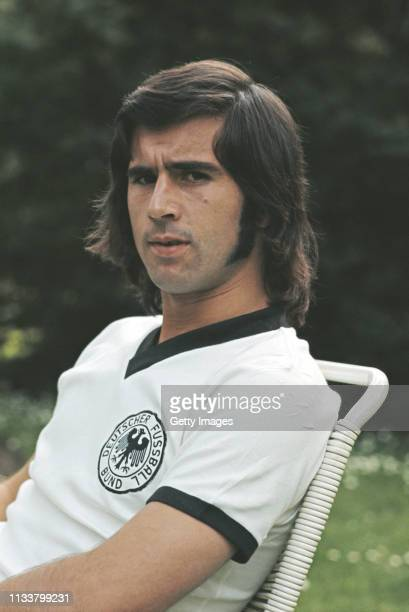 A portrait of West Germany striker Gerd Muller pictured circa 1972 in England United Kingdom